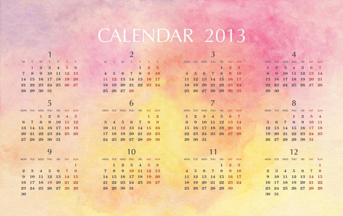 2013_calendar_f@克里斯多插畫森林