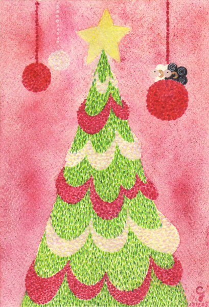 christmas_tree_a@克里斯多插畫森林