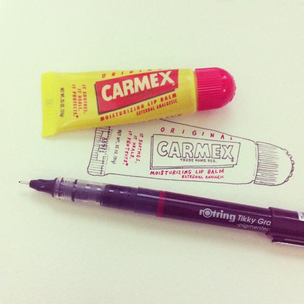 carmex_lip_balm_d@克里斯多插畫森林
