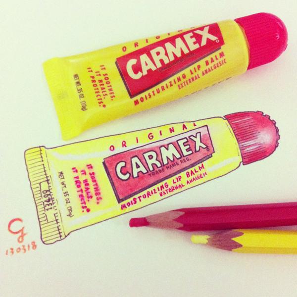 carmex_lip_balm_f@克里斯多插畫森林