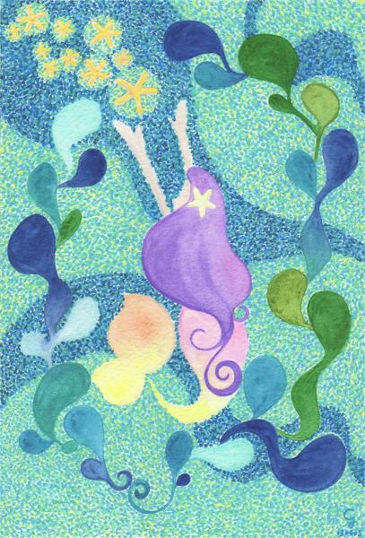 mermaid_a@克里斯多插畫森林