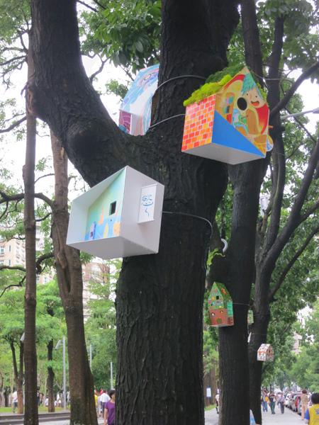 台中勤美綠圈圈夏日藝術祭_為城市加溫_百鳥開店計畫_kk@克里斯多插畫森林