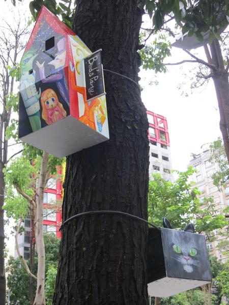 台中勤美綠圈圈夏日藝術祭_為城市加溫_百鳥開店計畫_gg@克里斯多插畫森林