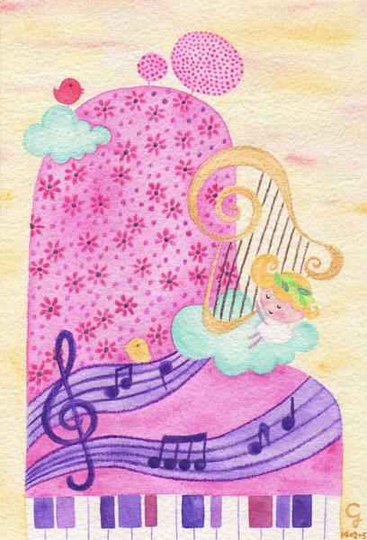 piano_a@克里斯多插畫森林