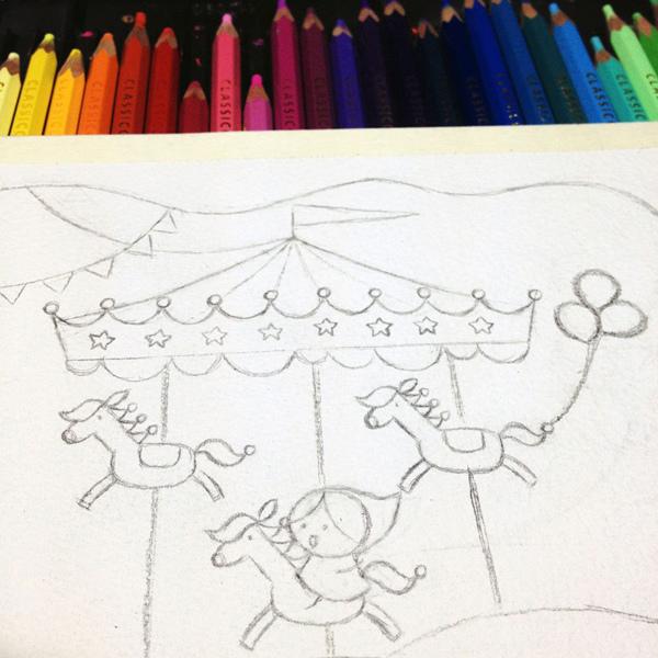 carousel_b@克里斯多插畫森林