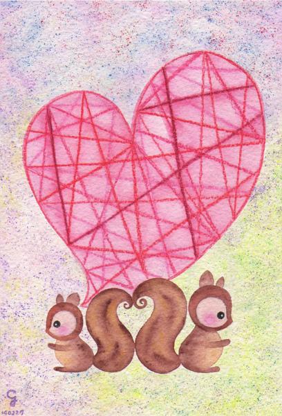 squirrel_a@克里斯多插畫森林
