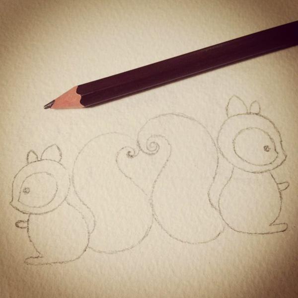 squirrel_b@克里斯多插畫森林
