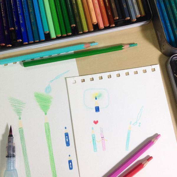 水彩色鉛筆萬用魔法_o@克里斯多插畫森林