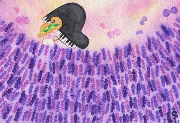lavender@克里斯多插畫森林