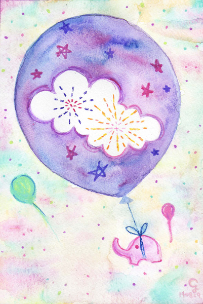 balloons@克里斯多插畫森林