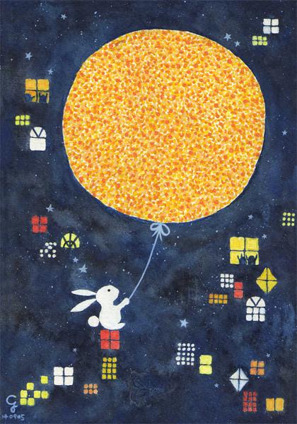 moon@克里斯多插畫森林