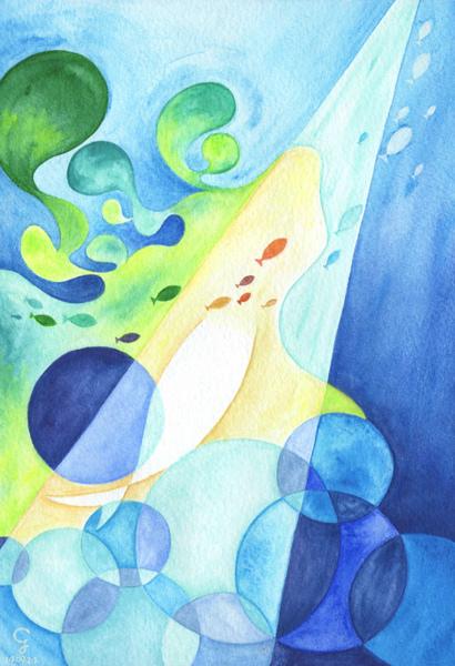 mermaid_克里斯多插畫森林