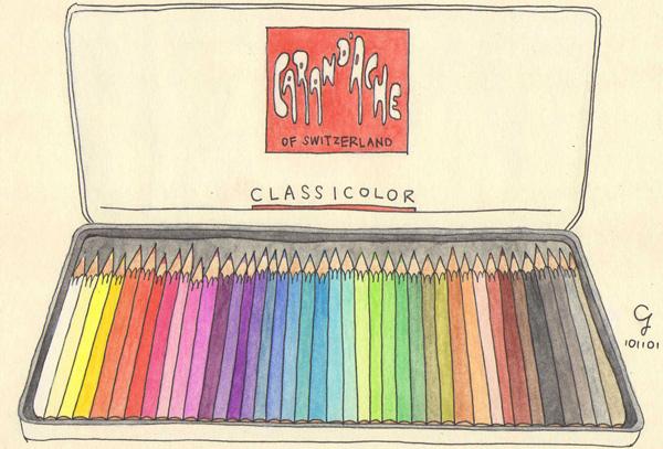 CARAN d'ACHE卡達水彩色鉛筆@克里斯多插畫森林.jpg