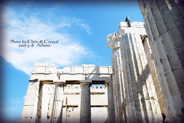 雅典的衛城內