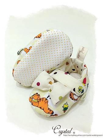 蝴蝶結趴睡加菲貓-寶寶扣帶鞋-6.jpg