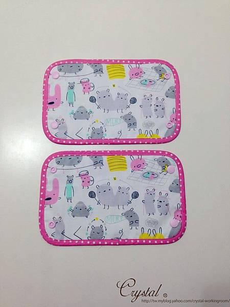 小妖怪-背巾口水巾-雙面粉-2