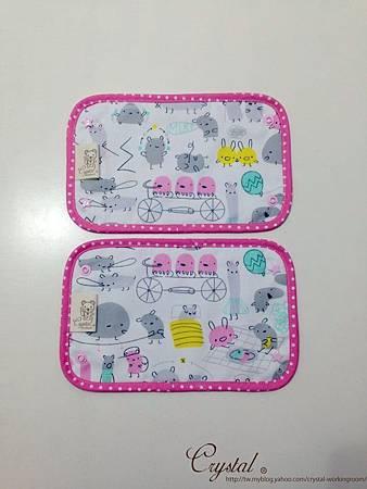 小妖怪-背巾口水巾-雙面粉-1