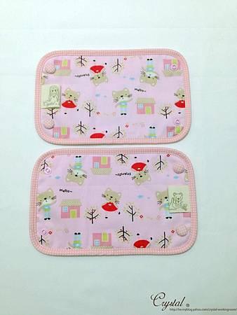 咖啡貓咪-粉色-Ergo背巾口水巾-3.jpg