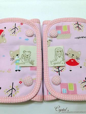 咖啡貓咪-粉色-Ergo背巾口水巾-5.jpg