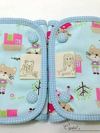 咖啡貓咪-藍色-Ergo背巾口水巾-5.jpg