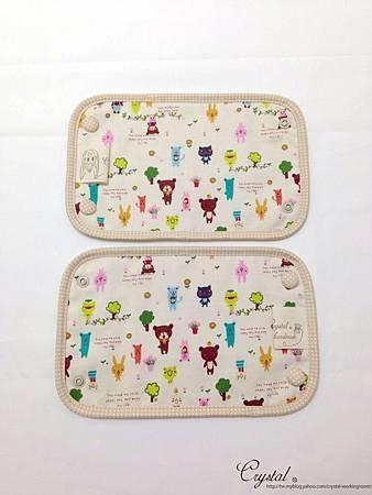微笑動物園-米色-Ergo背巾口水巾-3.jpg