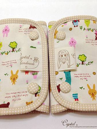 微笑動物園-米色-Ergo背巾口水巾-5.jpg