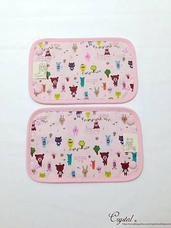 微笑動物園-粉色-Ergo背巾口水巾-3.jpg