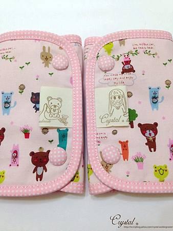 微笑動物園-粉色-Ergo背巾口水巾-5.jpg