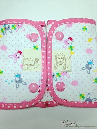 幸運兔-粉色-Ergo背巾口水巾-5.jpg