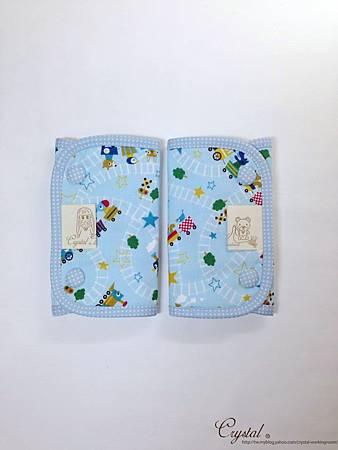 動物列車-藍色-Ergo背巾口水巾-1.jpg