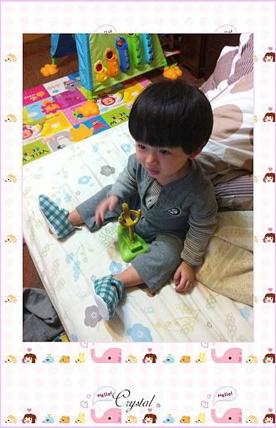 日本雙面格紋點點棉布釦帶鞋-綠色款-8.jpg