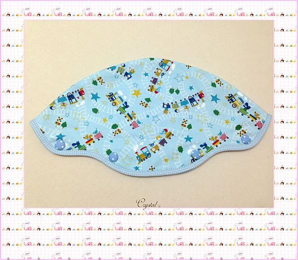 動物列車(藍色)~Baby Bjorn背巾專用口水巾-3.jpg