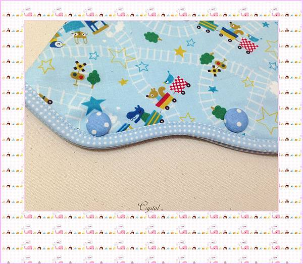 動物列車(藍色)~Baby Bjorn背巾專用口水巾-6.jpg