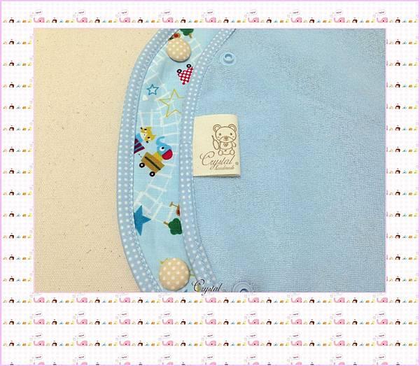 動物列車(藍色)~Baby Bjorn背巾專用口水巾-8.jpg
