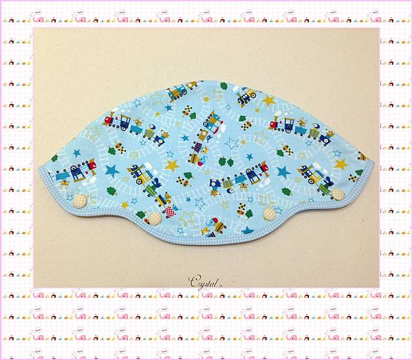 動物列車(藍色)~Baby Bjorn背巾專用口水巾-4.jpg