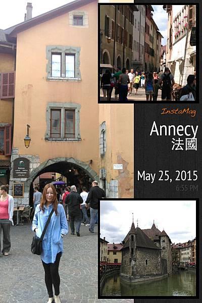 搭3個半小時的高鐵來到安錫,很有渡假風味的小鎮,觀光客很多,但幾乎沒有亞洲人,逛3小時只有6個亞洲人(含我們倆人).jpeg