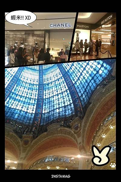 【第一次去歐洲就自助】羅浮宮+巴黎歌劇院+拉法葉百貨 ~ 地鐵7號線