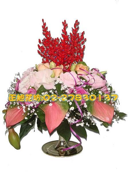 直式粉紅浪漫盆花-02