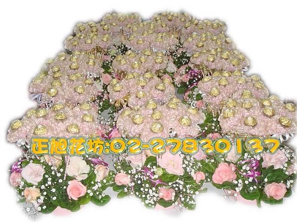 婚宴桌上金莎送禮盆花-03