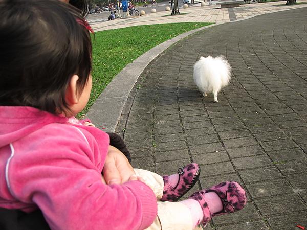【10M21D】對狗狗很有興趣.JPG