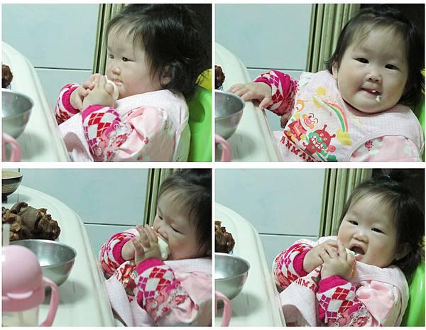 【1Y】第一次吃到蛋白.JPG