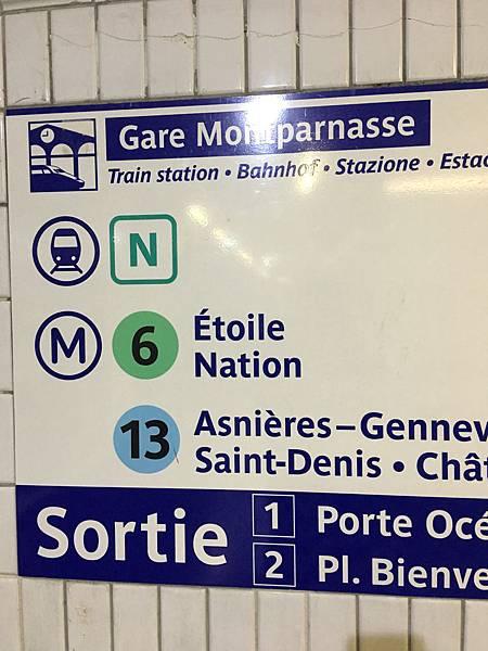 巴黎地鐵火車指標