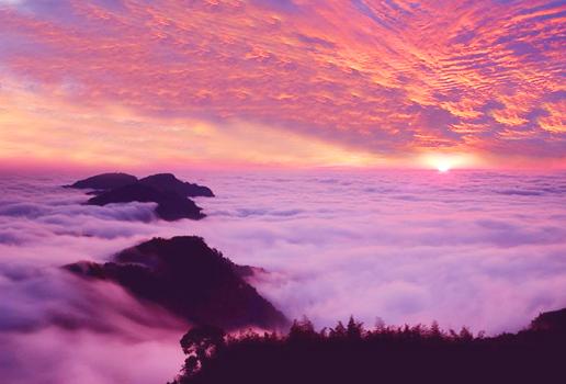 1石桌晨暘雲海之美