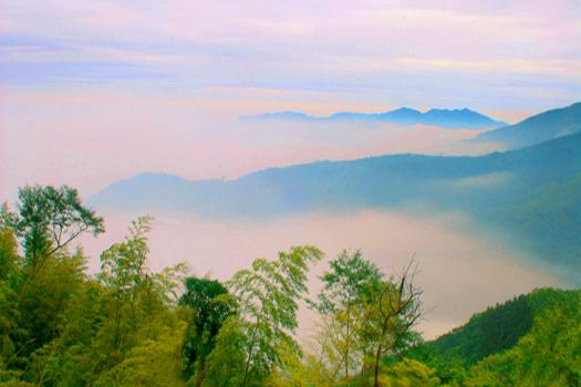 大坑山晨曦雲海之美