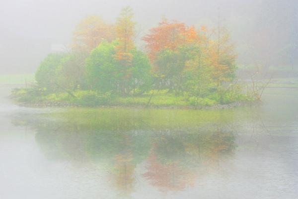 5明池楓紅意境幽邃之美