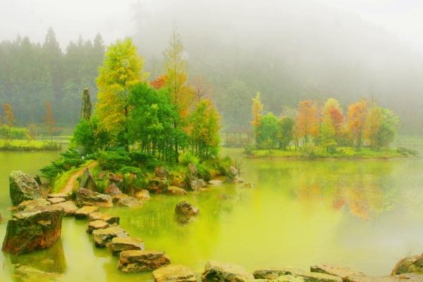 4明池楓紅意境幽邃之美