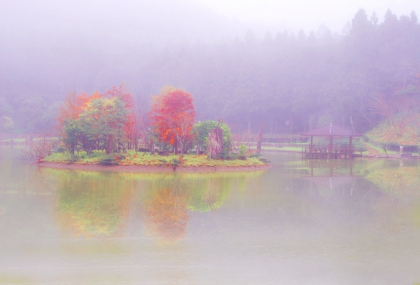 10明池楓紅意境幽邃之美