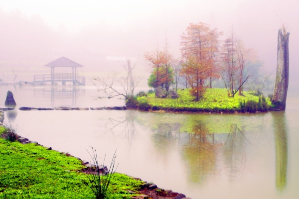 13明池楓紅意境幽邃之美