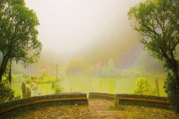 11明池楓紅意境幽邃之美