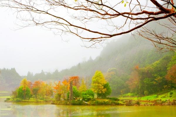 14明池楓紅意境幽邃之美
